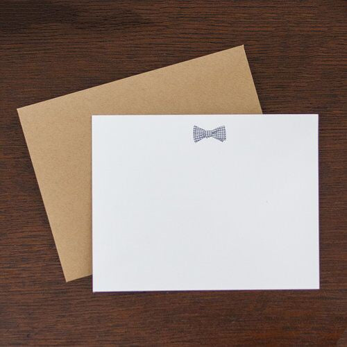 Bowtie Flat Note Stationery Set