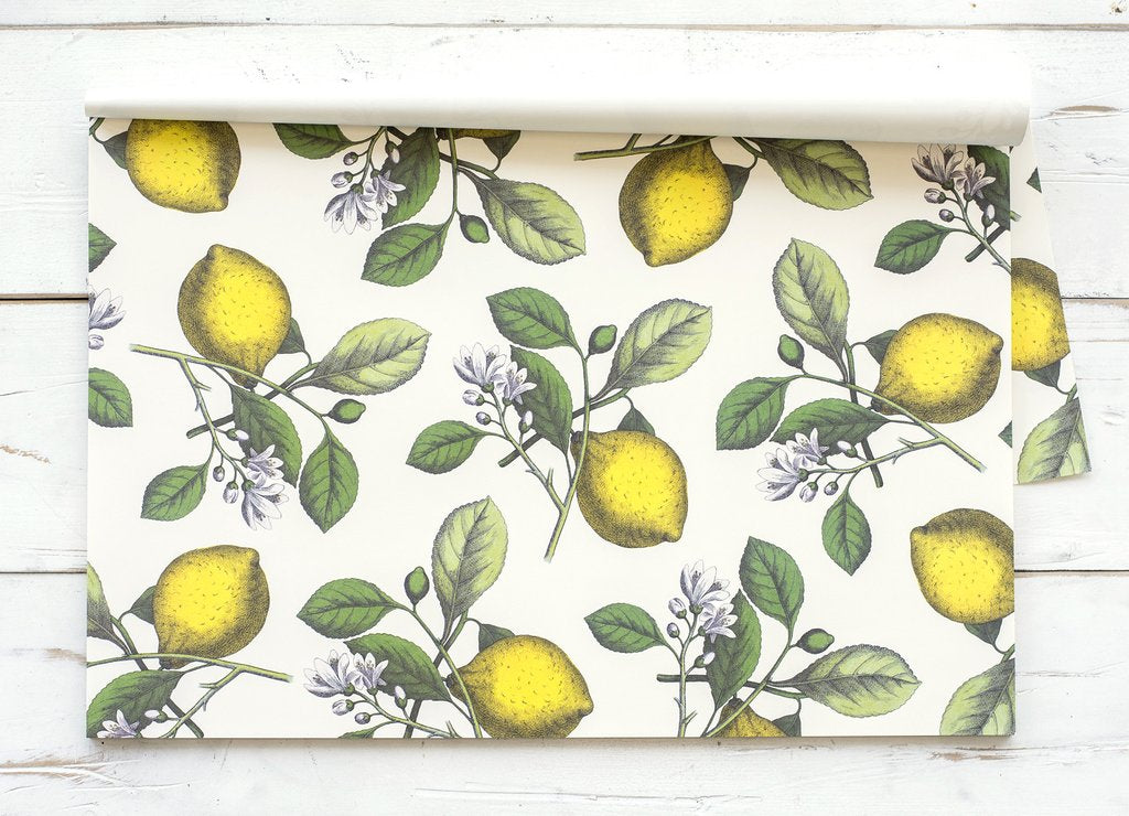 Hester & Cook Lemons Paper Placements, Pad of 24