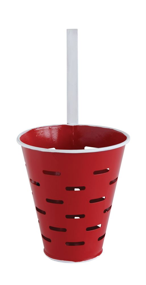 Red Olive Bucket with Hook