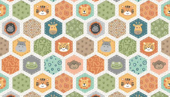 Jungle Friends Hexagons 2200-Q