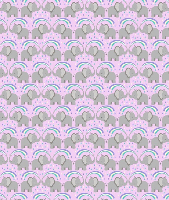 Rainbow by Lewis and Irene A443.1 Rainbows Elephants on light lilac