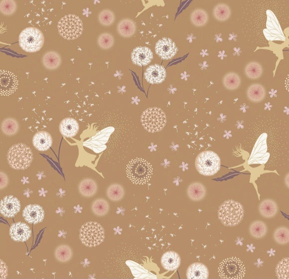 """Fairy Clocks"" by Lewis and Irene A505.3 Fairy Clocks by Deep Gold with Gold Metallic"