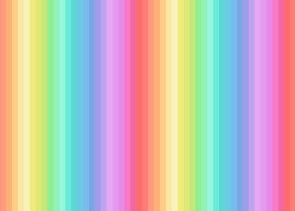 Rainbows by Lewis and Irene A445 Rainbows pastel stripes