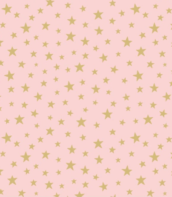 """Marvellous Metallics"" MM1.2 Gold Stars on Pink"