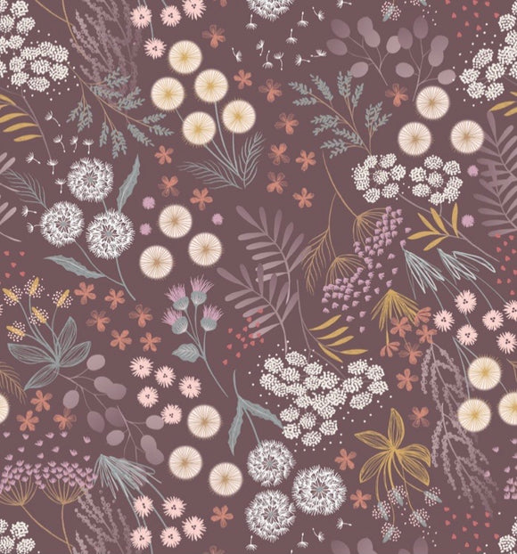 """Fairy Clocks"" by Lewis and Irene A509.3 Dark Linen Fairy Plants"