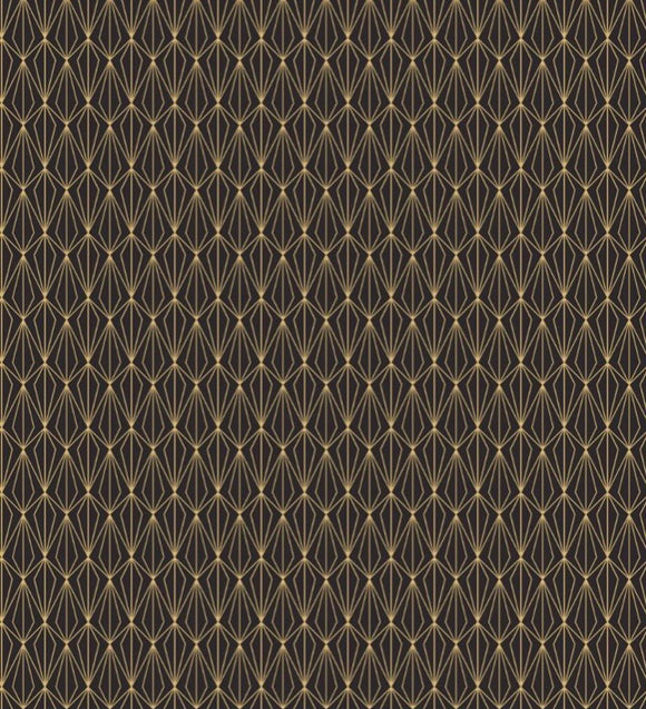"""Marvellous Metallics "" MM4.3 Gold Geometric on Black"