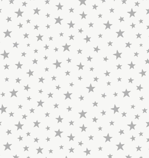 """Marvellous Metallics"" MM1.1 Sliver Star on Cream"