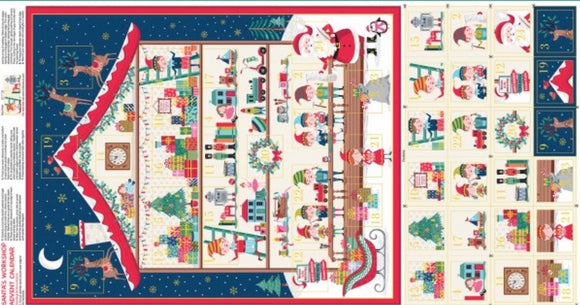 """SALE 2021 ""Let it snow Santas workshop"" calendar Christmas 2020 by Makower uk"