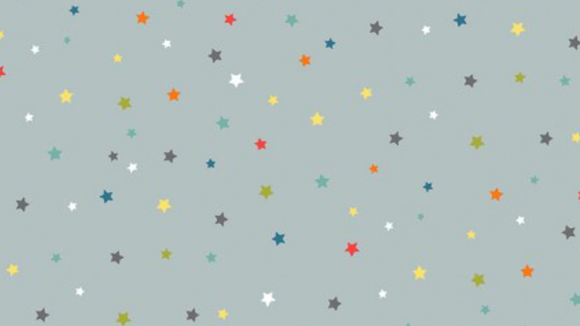 Multi Stars on Grey Background 2274/S by MakowerUk
