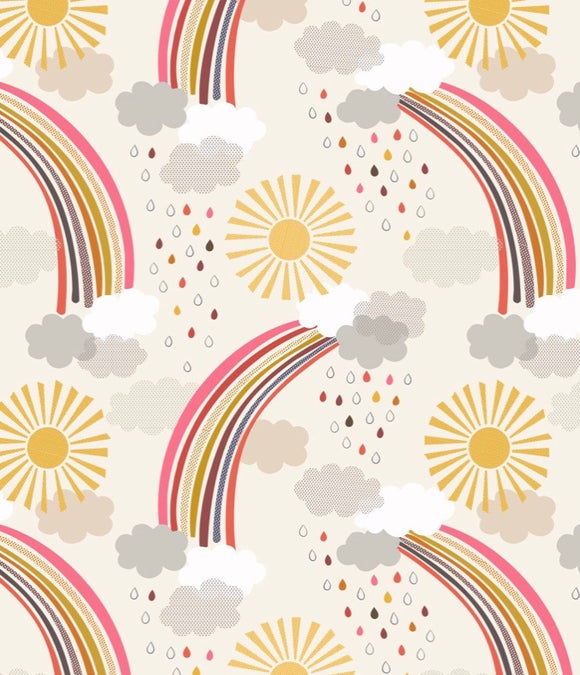 Rainbows by Lewis and Irene A439.1 Calming rainbows on cream