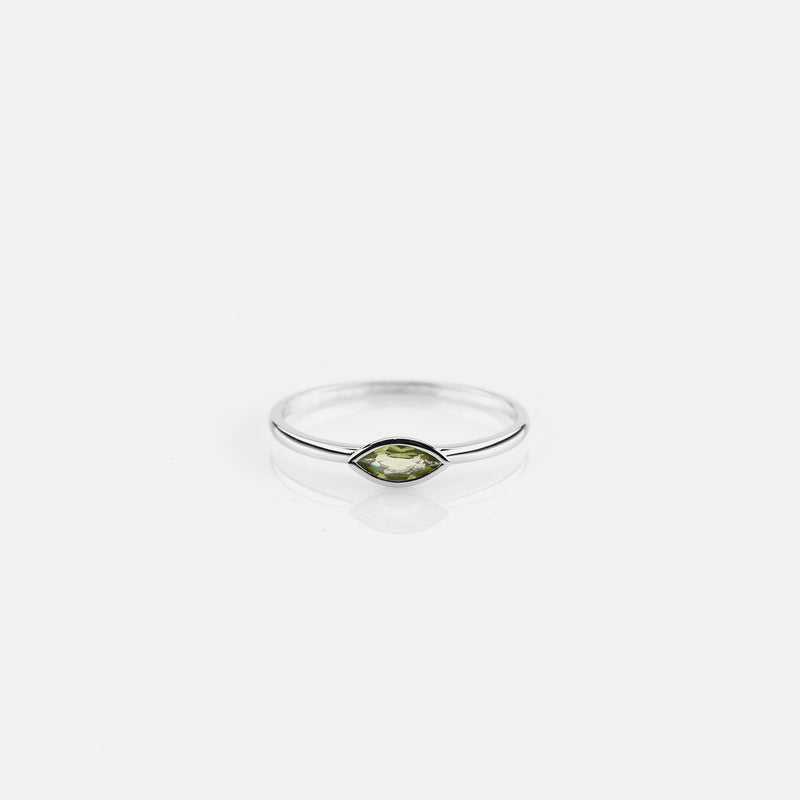 Festive Offer for 18k white gold ring with peridot
