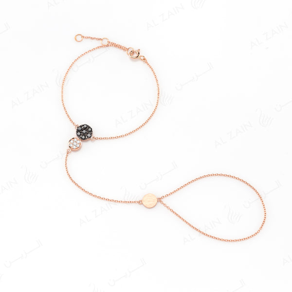 Rose Gold Dusk till Dawn Hand Chain with Diamonds