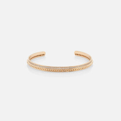 18k Hab El Hayl Evolution Bangle in Yellow Gold with Diamonds - Al Zain Jewellery