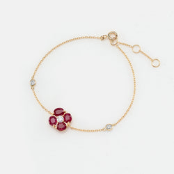 Precious Petals Bracelet in 18k Yellow Gold - Al Zain Jewellery