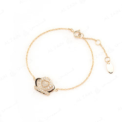 My Princess Bracelet in Yellow Gold with Diamonds - Al Zain Jewellery