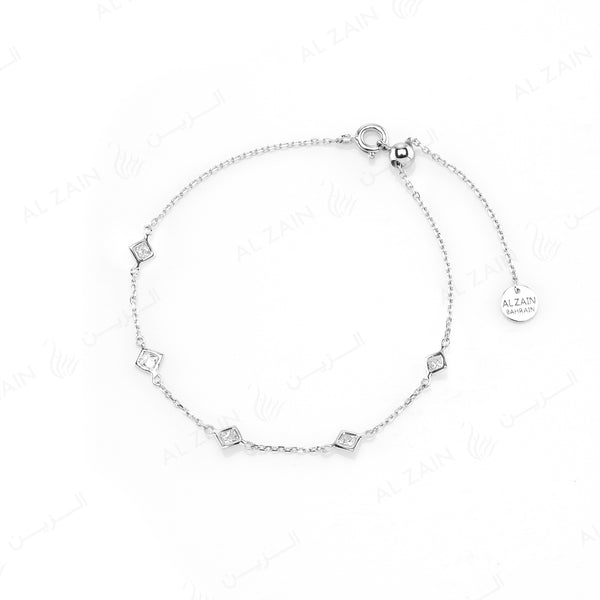 Nina Bracelet in White Gold with Diamonds - Al Zain Jewellery