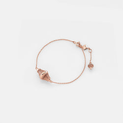 Al Merriyah rosegold edition. Polished finish bracelet with diamonds - Al Zain Jewellery