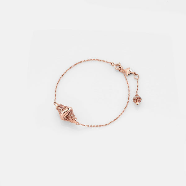 Al Merriyah rosegold edition. 18k Polished finish bracelet with diamonds - Al Zain Jewellery