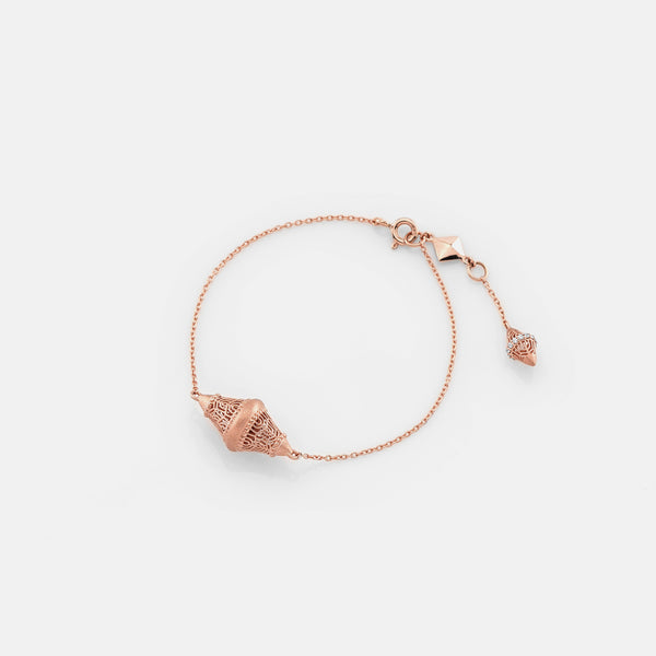 Al Merriyah in 18k rosegold edition. Matte finish bracelet with diamonds - Al Zain Jewellery