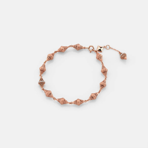Al Merriyah rosegold edition. 18k Matte finish bracelet with diamonds - Al Zain Jewellery