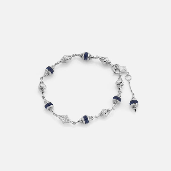 Al Merriyah mood colour bracelet in 18k white gold with sapphire and diamonds