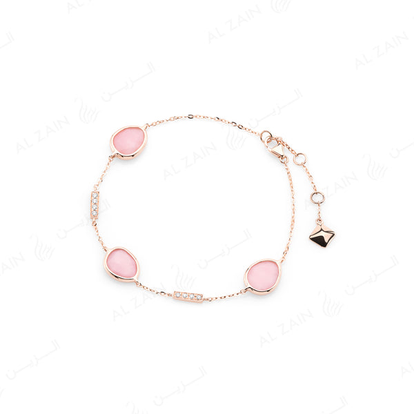 Simply Nina bracelet in 18k rose gold with Opal stones and diamonds