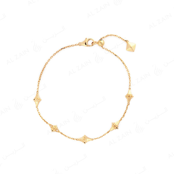 18k Hab El Hayl Origins Bracelet in Yellow Gold with Diamonds