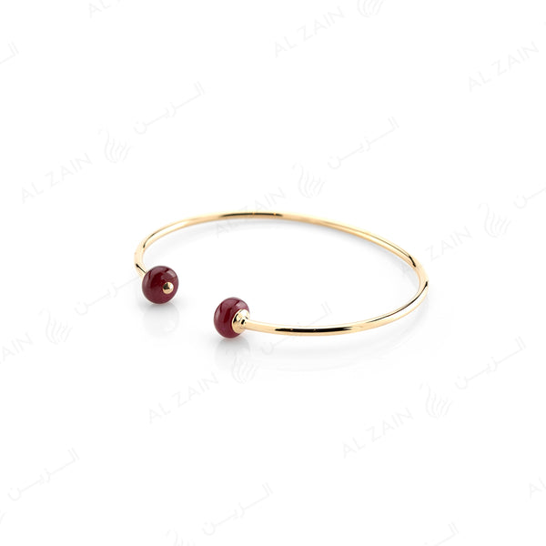 Ruby bead bangle - Al Zain Jewellery