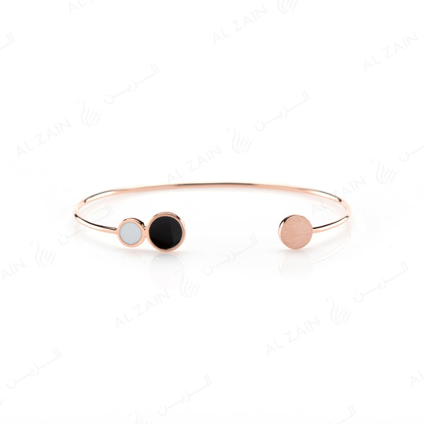 Rose Gold Dusk till Dawn Bangle with Enamel - Al Zain Jewellery