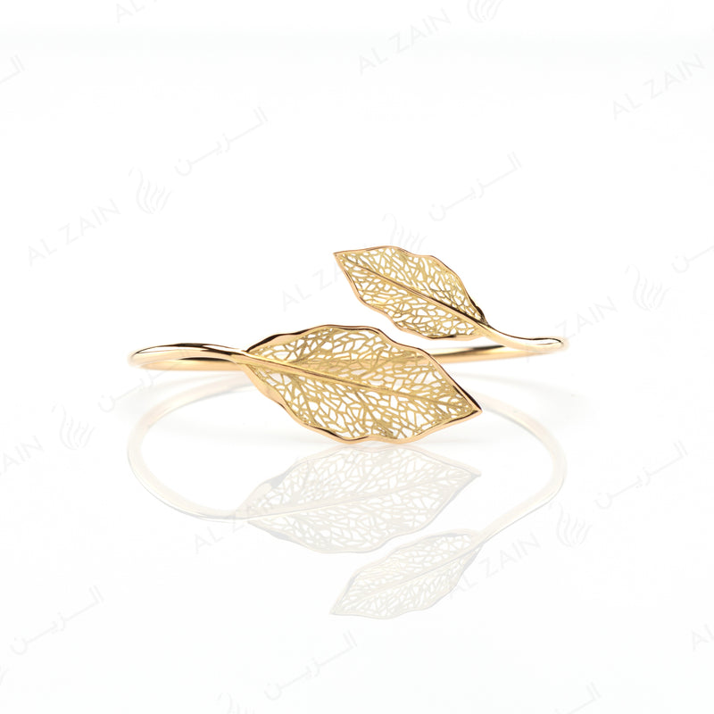 Autumn Bangle in Yellow Gold - Al Zain Jewellery