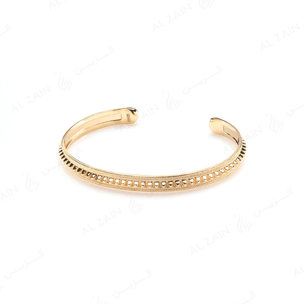 Hab El Hayl Bangle in Yellow Gold - Al Zain Jewellery