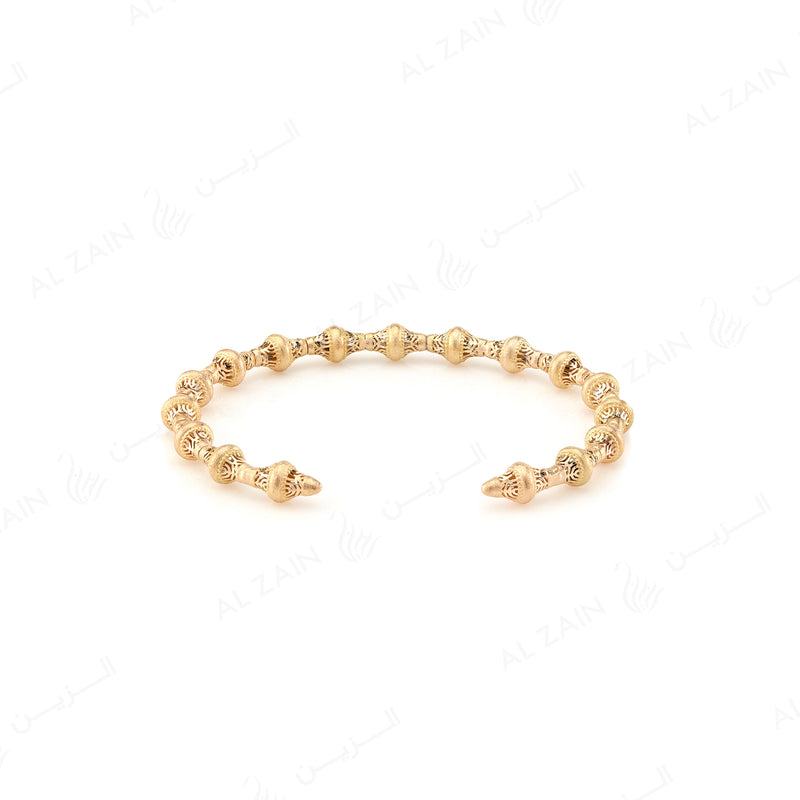 Al Merriyah Bangle in Yellow Gold - Al Zain Jewellery