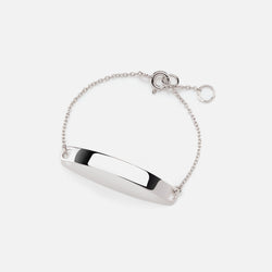 Kids Tag Chain Bracelet in White Gold - Al Zain Jewellery