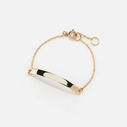 Kids Tag Chain Bracelet in Yellow Gold - Al Zain Jewellery