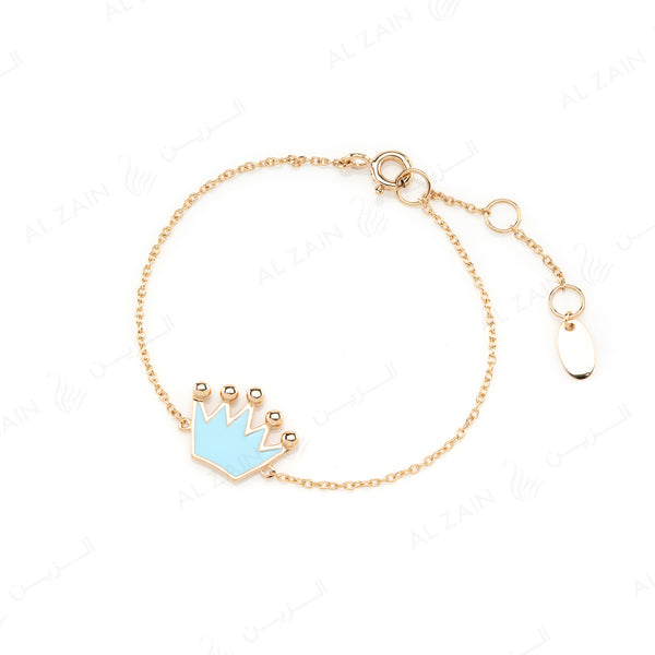 My Princess Bracelet in Yellow Gold with Enamel