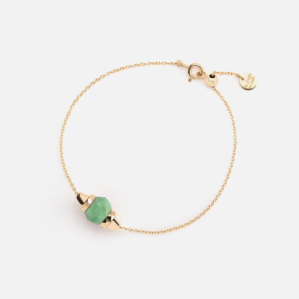 Ruby & Friends Bracelet in Yellow Gold with Jade