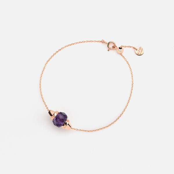 Ruby & Friends Bracelet in Rose Gold with Amethyst