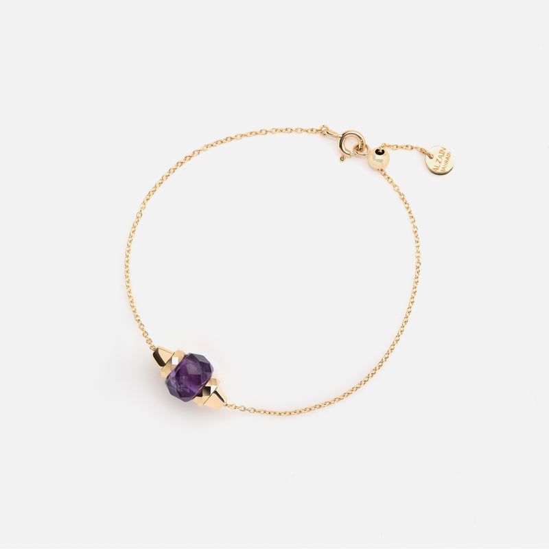 Ruby & Friends Bracelet in Yellow Gold with Amethyst - Al Zain Jewellery