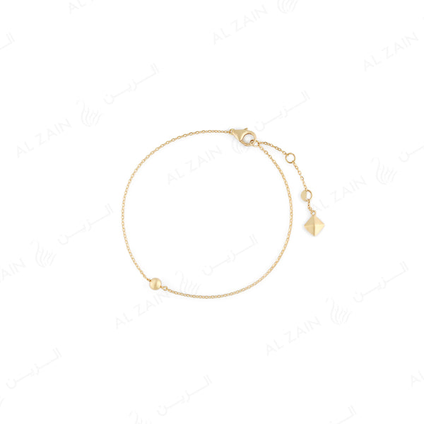 Kids gold ball bracelet in yellow gold