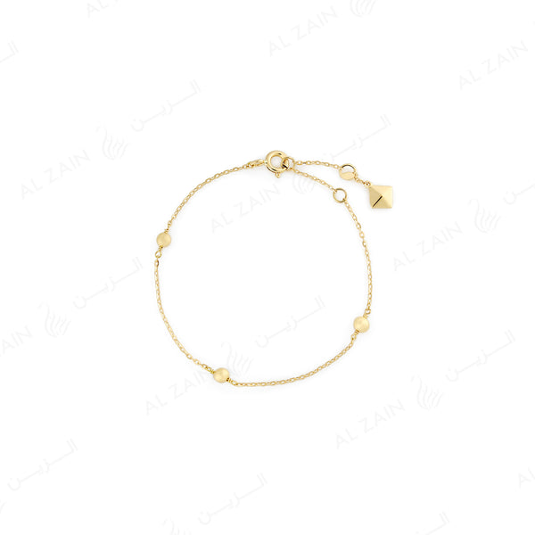 Kids gold ball bracelet in yellow gold - Al Zain Jewellery