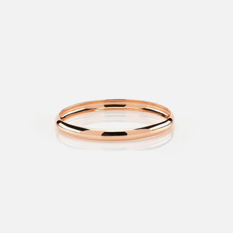Kids polished finish bangle in rose gold - Al Zain Jewellery