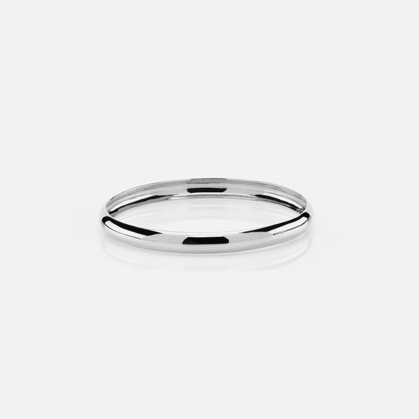 Kids polished finish bangle in white gold - Al Zain Jewellery