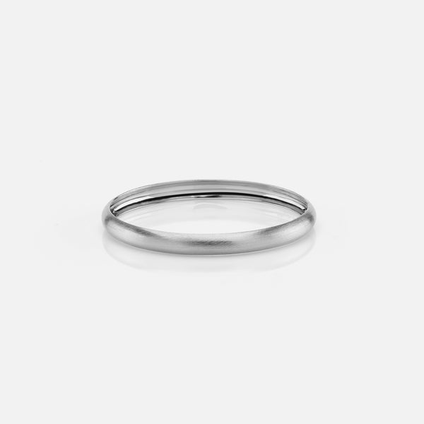 Kids matte finish bangle in white gold - Al Zain Jewellery