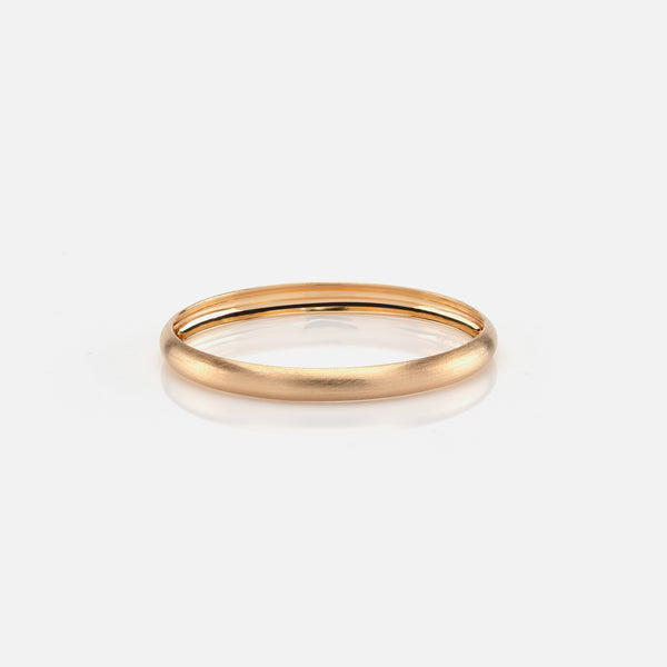 Kids matte finish bangle in yellow gold - Al Zain Jewellery