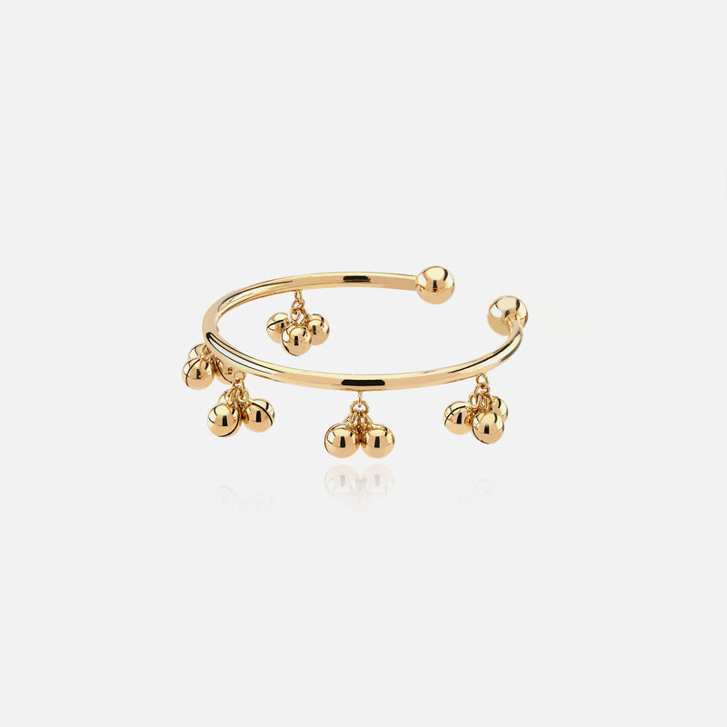 Kids high-end bangle in yellow gold