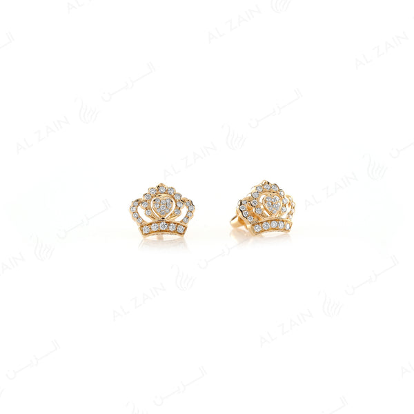My Princess Earrings in Yellow Gold - Al Zain Jewellery