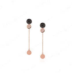 Rose Gold Dusk till Dawn Earrings with Diamonds