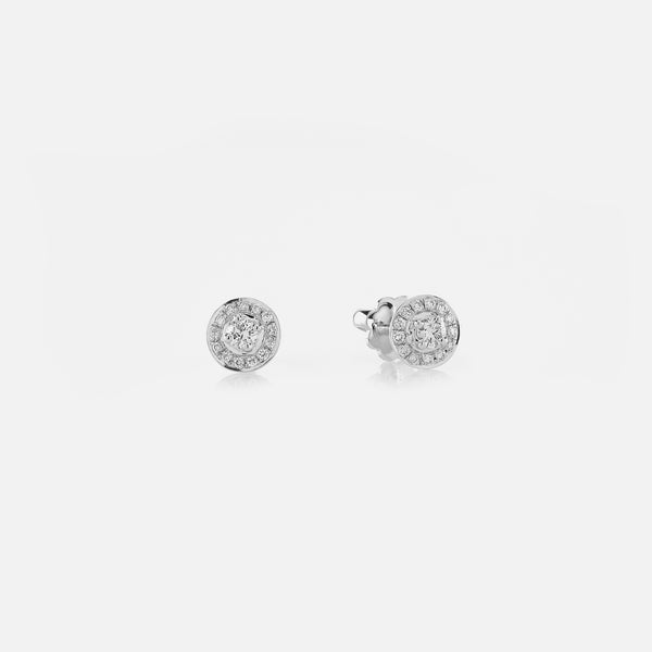 Kids Studs Earrings in White Gold with Diamonds - Al Zain Jewellery