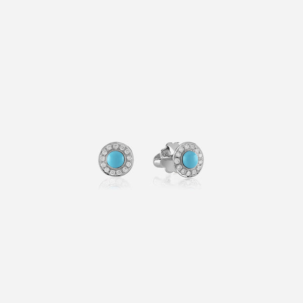Kids Stud Earrings in White Gold with Diamonds - Al Zain Jewellery