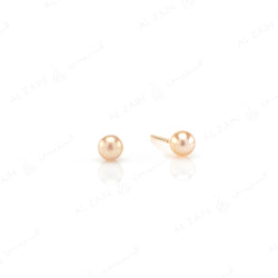 Natural Pearl Stud Earrings in Yellow Gold